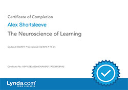 The Neuroscience of Learning certificate