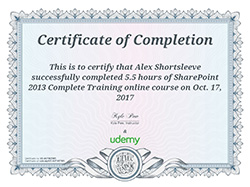 Sharepoint certificate